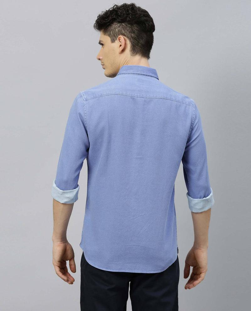 COMBO-SOLID SHIRT-BLUE SHIRT RARE RABBIT