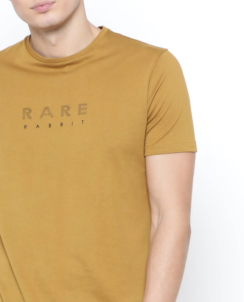 Rare-2 -Casual T-shirt-Yellow T-SHIRT RARE RABBIT