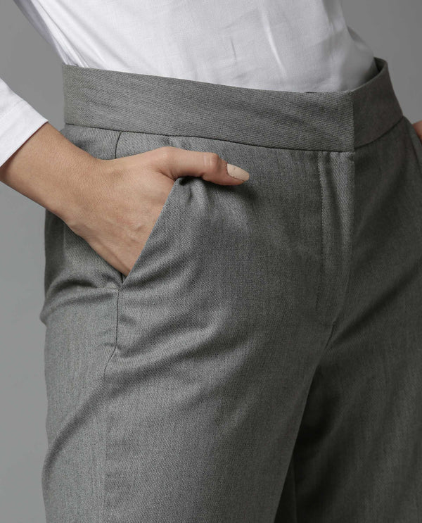 CLUB-FLARED TROUSER-GREY TROUSERS RAREISM