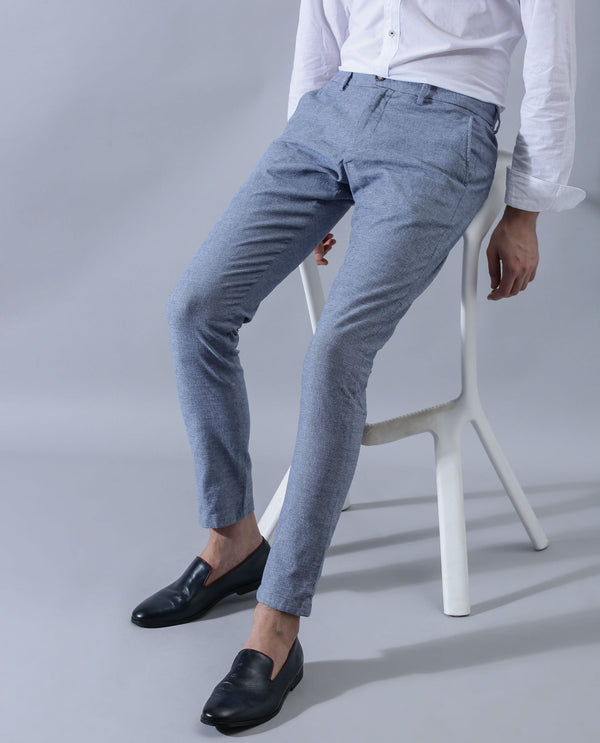 Ester-Solid TROUSER/Chino-Blue TROUSERS RARE RABBIT