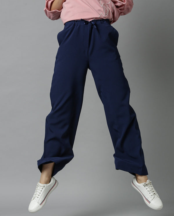 DELTA-SOLID TROUSER-NAVY TROUSERS RAREISM