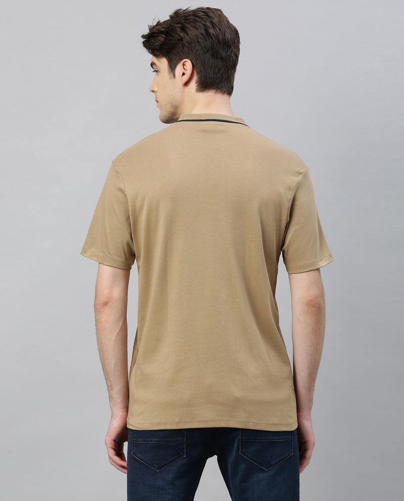 Tape-Polo Neck-Beige POLO RARE RABBIT