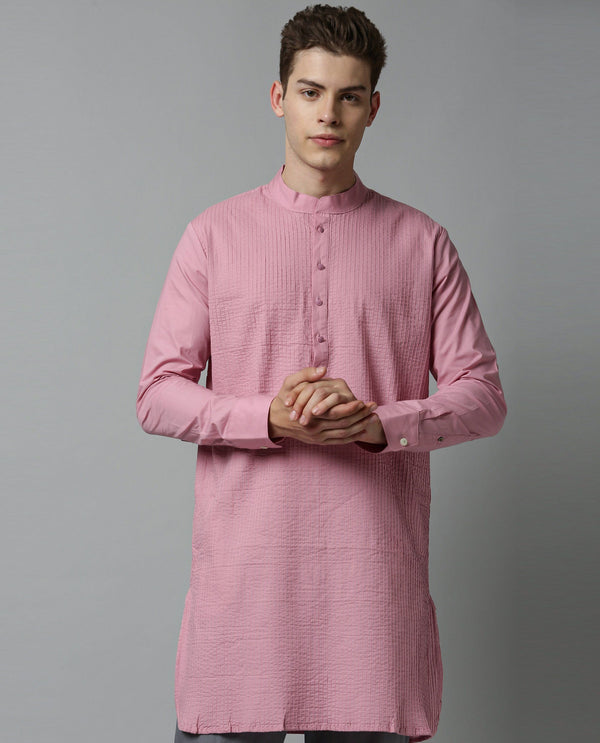 PINTUCK - MEN'S KURTA - PINK KURTA RARE RABBIT