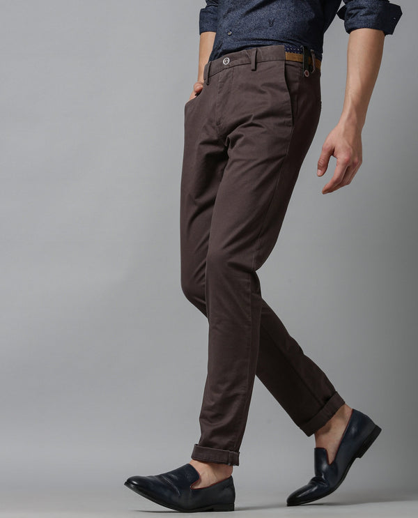 Daro-5-Slim Fit TROUSER/Chino-Tan TROUSERS RARE RABBIT
