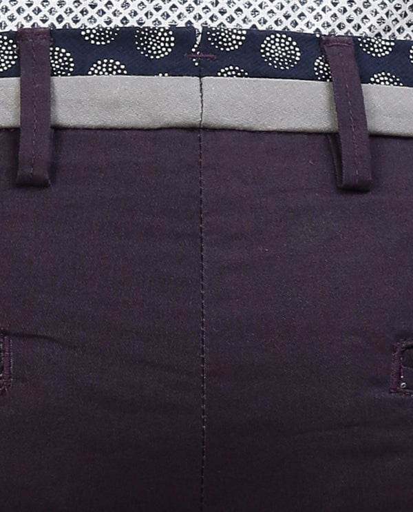 DARO 3- CHINOS- BERRY TROUSERS RARE RABBIT