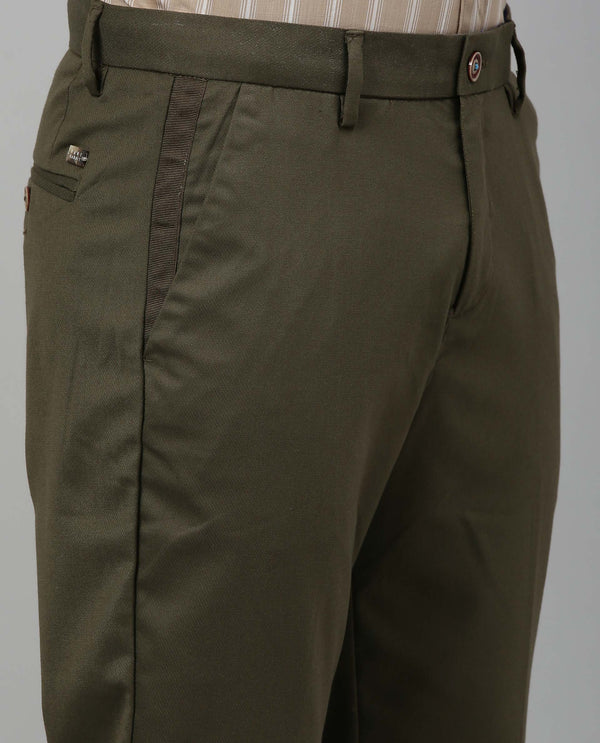DICER-SOLID TROUSER-OLIVE TROUSERS RARE RABBIT