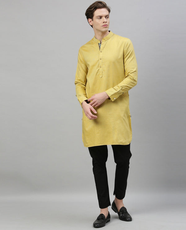 CELEB-MEN'S KURTA-YELLOW KURTA RARE RABBIT
