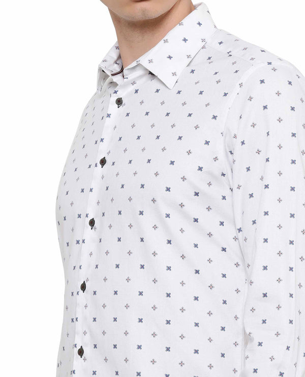 Illu dob-Printed Shirt-White