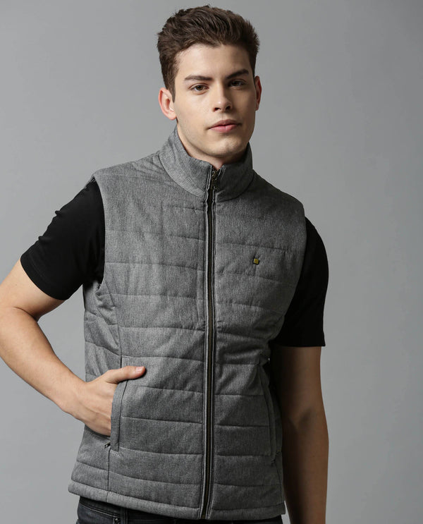Quite Vest-Zipper Jacket-Grey JACKETS RARE RABBIT