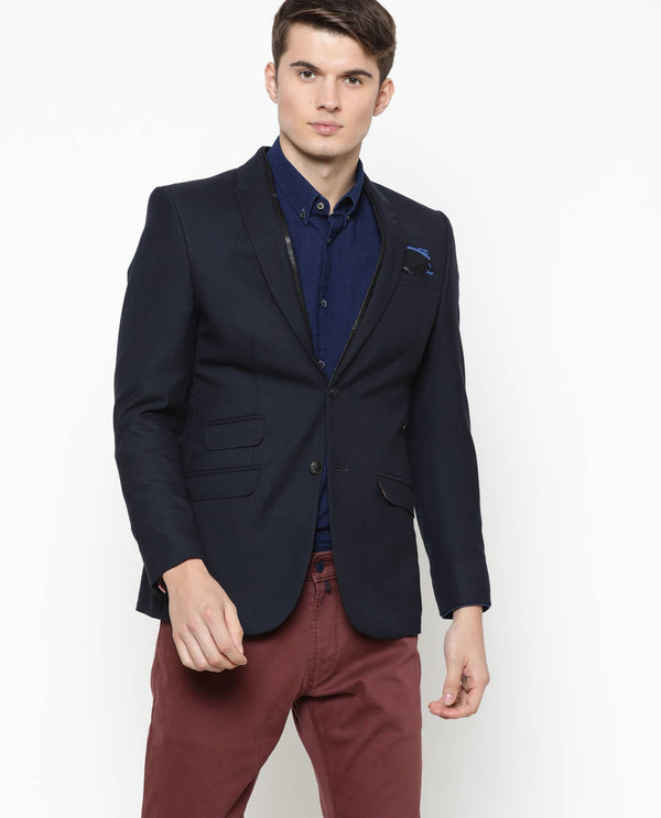 Classico-Peak Lapel Jacket-Navy BLAZER RARE RABBIT
