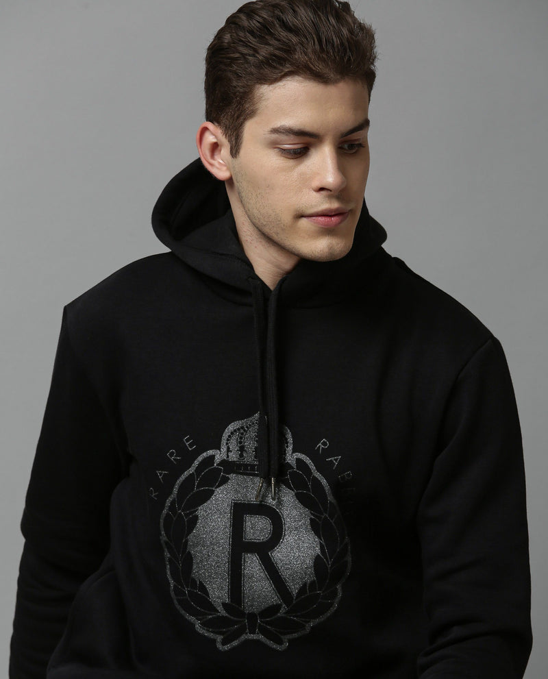 MAZEK-HOODIE SWEATSHIRT-BLACK SWEATSHIRT RARE RABBIT
