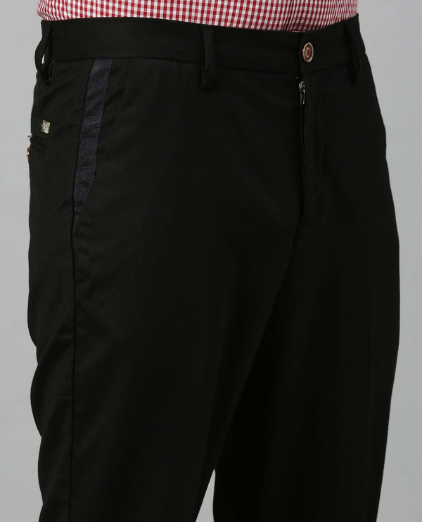 DICER-SOLID TROUSER-BLACK TROUSERS RARE RABBIT