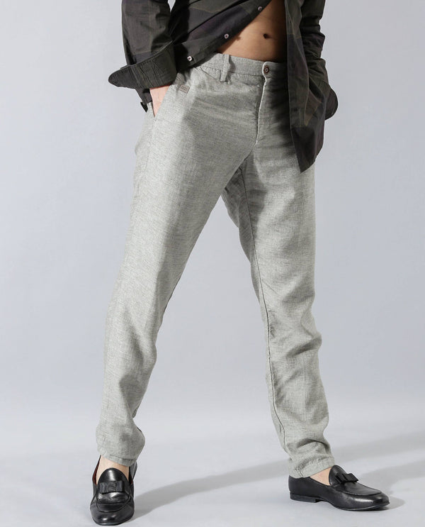 LINCON-MELANGE TROUSER-GREY TROUSERS RARE RABBIT