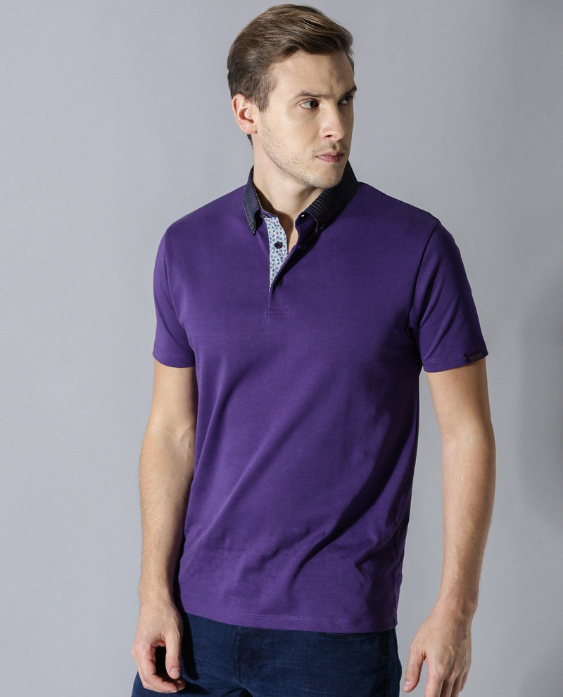 PRIMEX-POLO T-SHIRT-PURPLE POLO RARE RABBIT