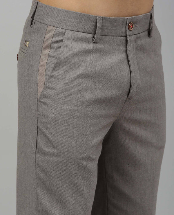 DICER-SOLID TROUSERS-GREY TROUSERS RARE RABBIT
