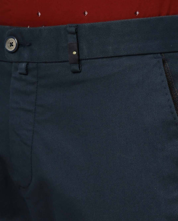 BOYCA-SOLID TROUSER-BLUE TROUSERS RARE RABBIT