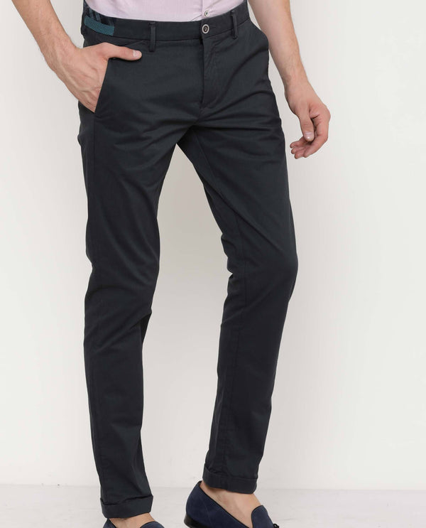 Daro-5-Slim Fit TROUSER/Chino-slate TROUSERS RARE RABBIT