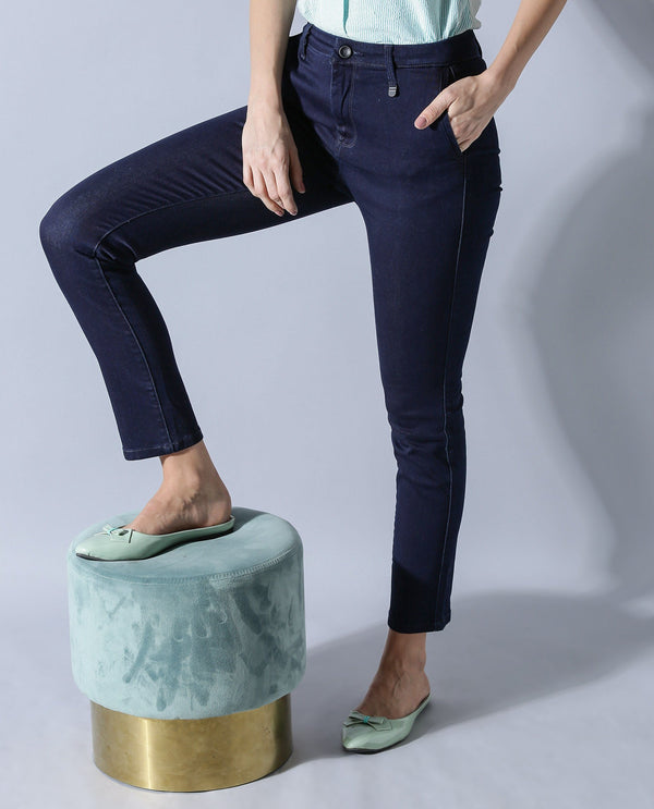 RECKON-WOMEN'S DENIM- NAVY DENIM PANT RAREISM