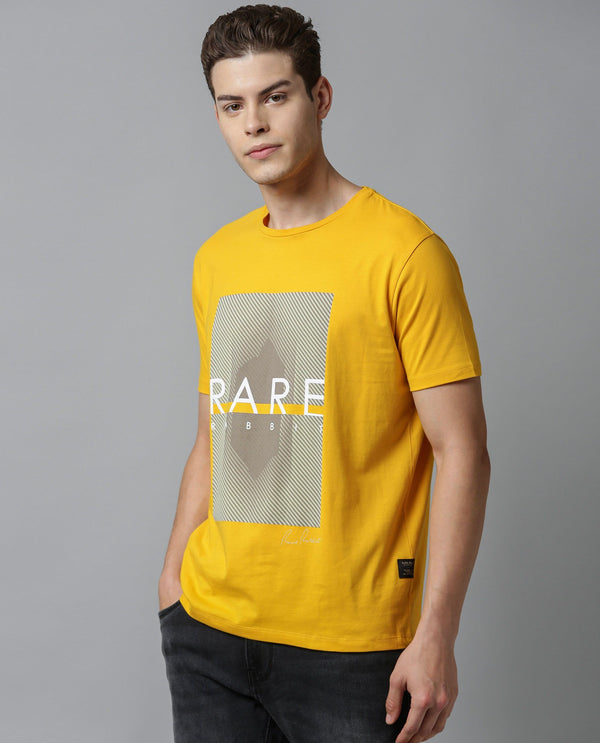 PARIS-SUPIMA T-SHIRT-YELLOW T-SHIRT RARE RABBIT