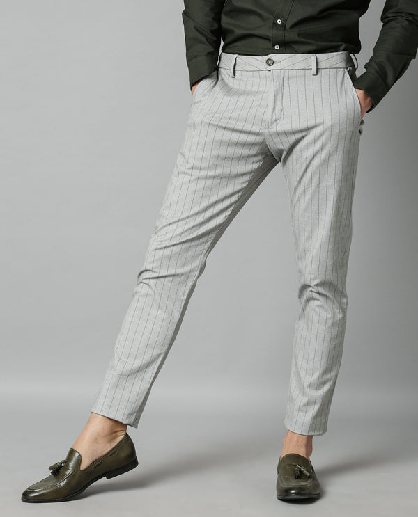 ORLAN-STRIPE TROUSER-BLACK TROUSERS RARE RABBIT