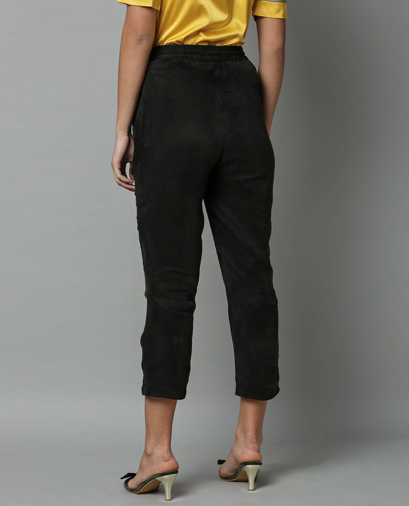 MAP-TAPERED TROUSER-BLACK TROUSERS RAREISM