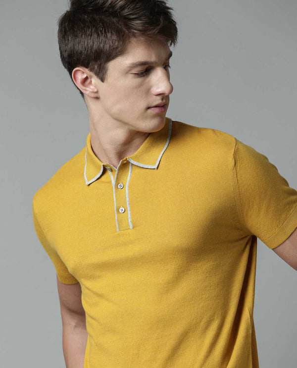 GASPY - SUPIMA COTTON POLO - MUSTARD POLO RARE RABBIT