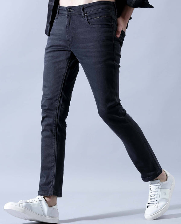 ALAN-DARK-GREY DENIM PANT RARE RABBIT