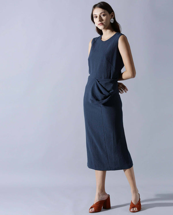 JENNER-SLEEVELESS MIDI DRESS-BLUE DRESS RAREISM
