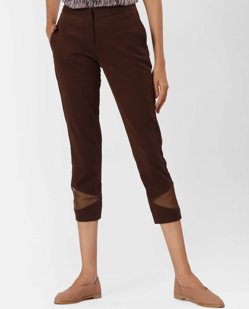BROKE-TAPERED TROUSER-COFFEE TROUSERS RAREISM