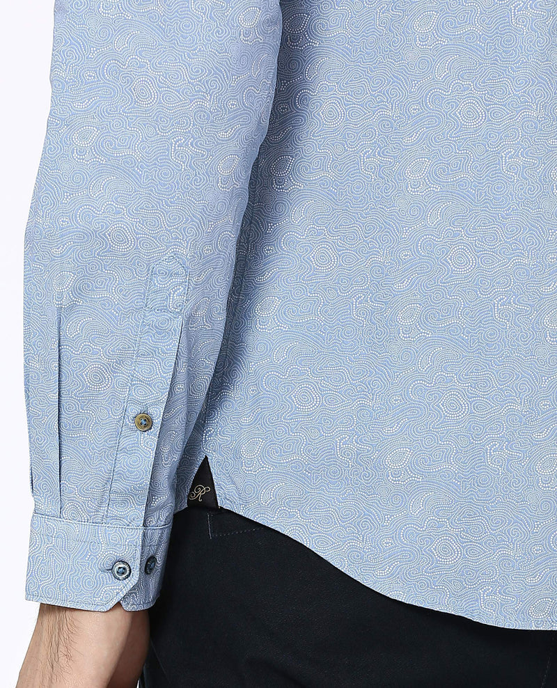 Wander-Detailed Shirt-Blue