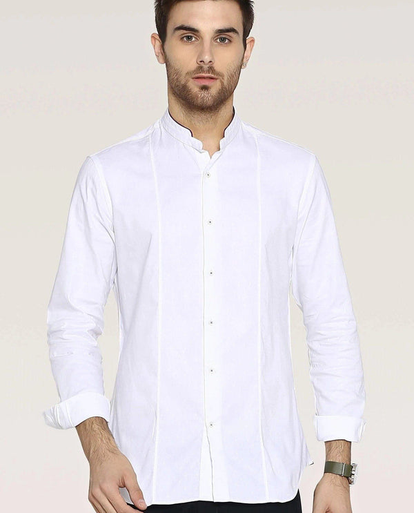 WHEAT-PREMIUM DOBBY SHIRT-WHITE