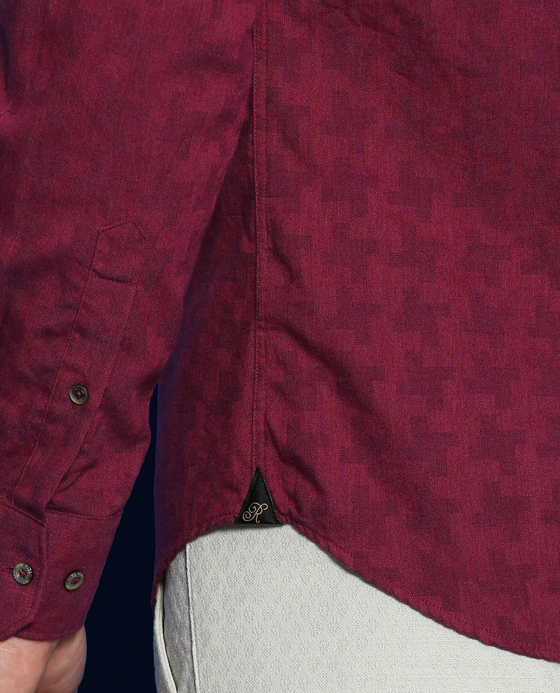 Tooth-Detailed Shirt-Pink