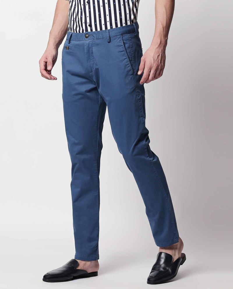 CANAL 2- SOLID TROUSER- BLUE TROUSERS RARE RABBIT