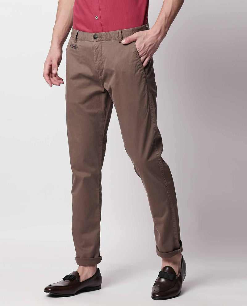 CANAL 2- TROUSER/CHINO -KHAKI TROUSERS RARE RABBIT
