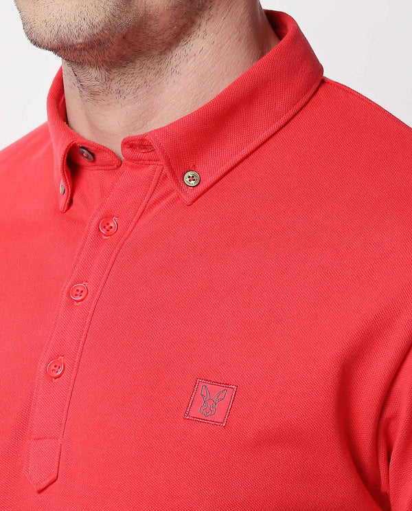 CASSINI-POLO-BUTTON DOWN-RED