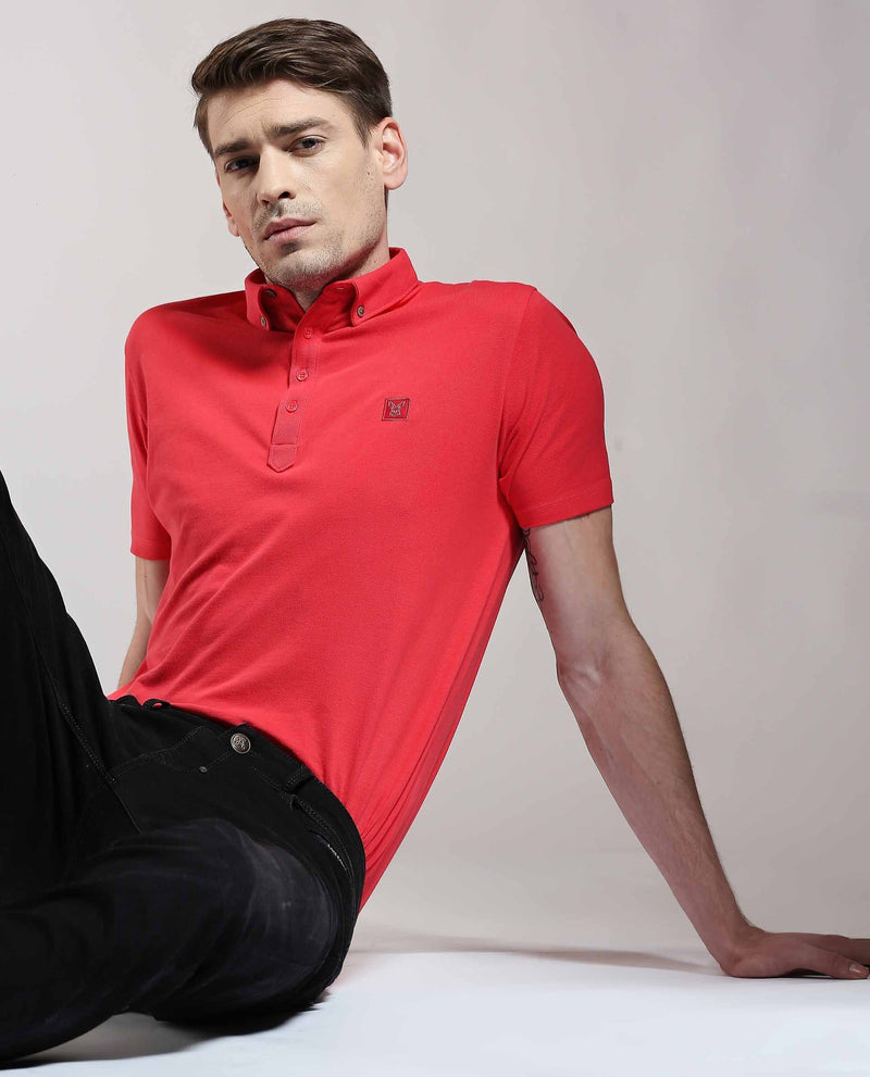 CASSINI-POLO-BUTTON DOWN-RED POLO RARE RABBIT