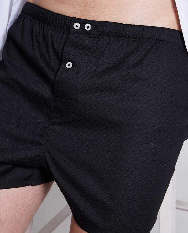 CASKEN-MEN'S BOXER-BLACK BOXER RARE RABBIT