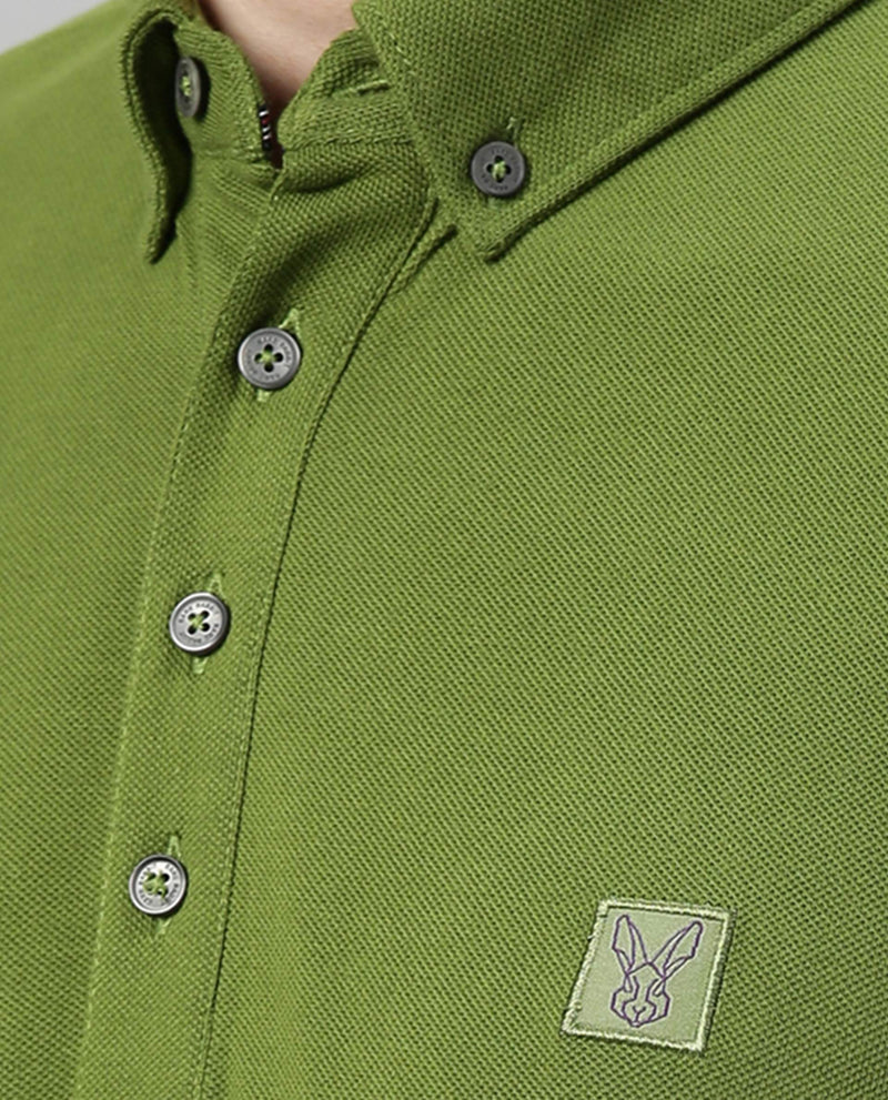 CASSINI-2-PIMA POLO T-SHIRT-LIGHT GREEN POLO RARE RABBIT