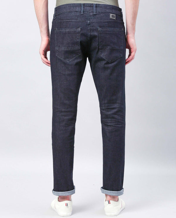 DARK-Casual Denims-NAVY DENIM PANT RARE RABBIT