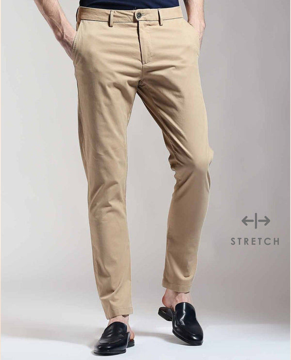 DARO-Regular Fit Trouser/Chino-KHAKI TROUSERS RARE RABBIT