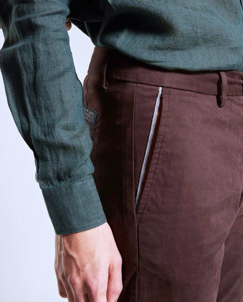 DARO-Regular Fit Trouser/Chino-COFFEE TROUSERS RARE RABBIT