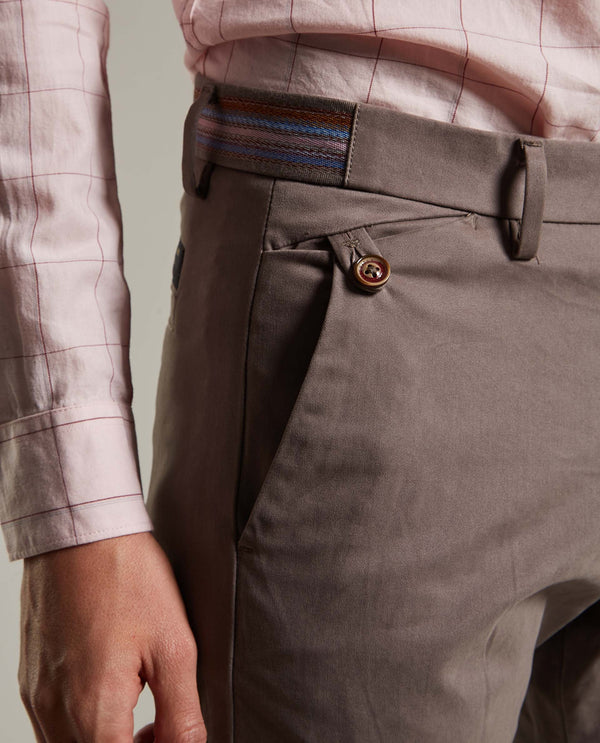 DARO-Slim Fit Trouser/Chino-SLATE TROUSERS RARE RABBIT