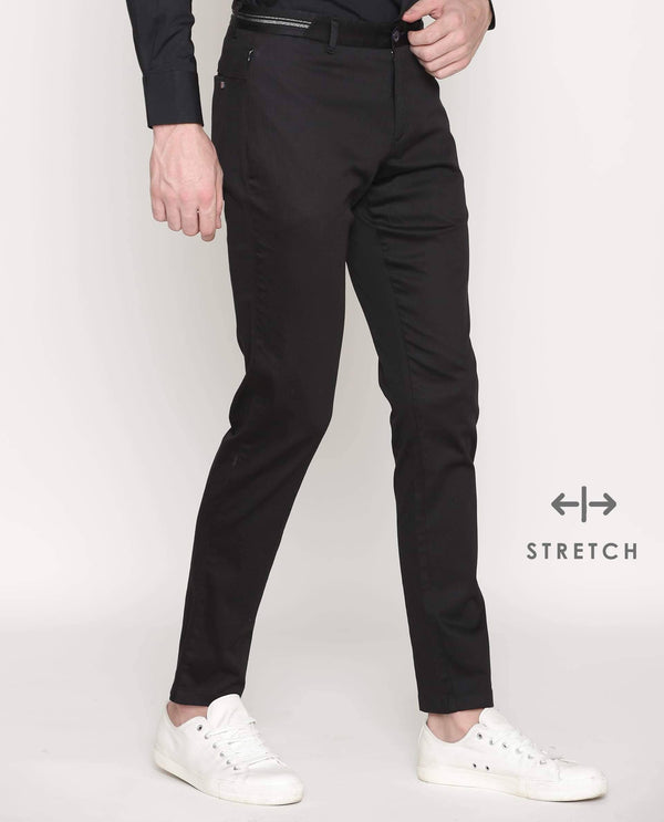 Drip-Solid TROUSER/Chino-Black TROUSERS RARE RABBIT