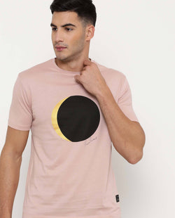 ECLIPSE-1-PRINTED PIMA T-SHIRT- PINK T-SHIRT RARE RABBIT