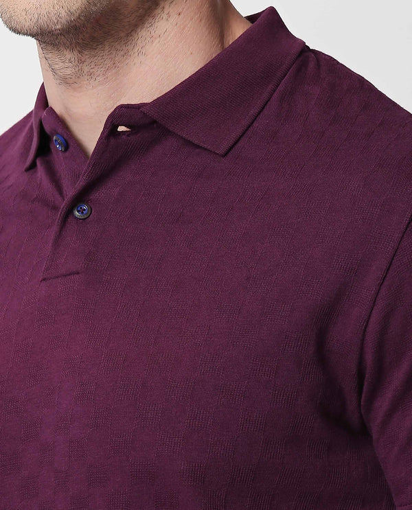 HOPPER-PIMA POLO T SHIRT-PURPLE POLO RARE RABBIT