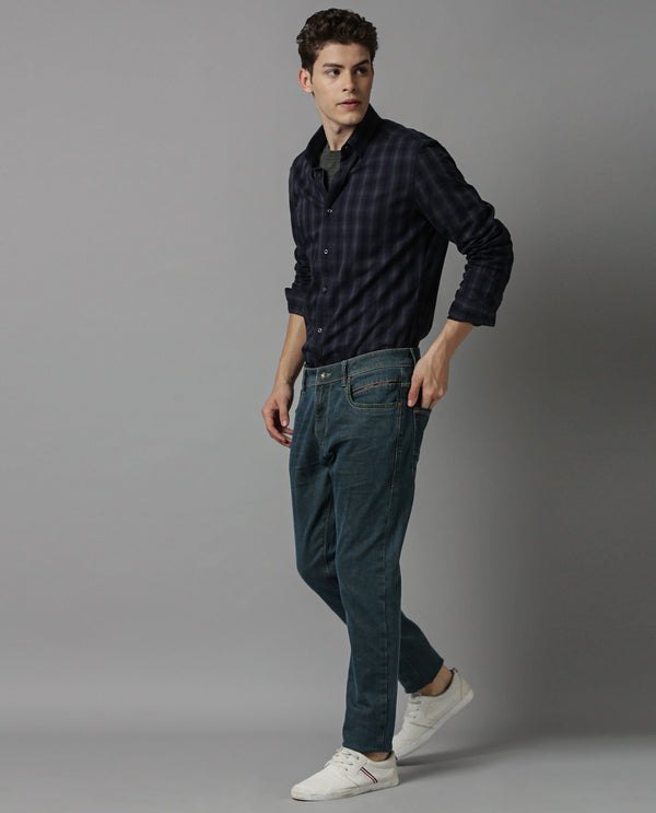 CHUNO-STRETCH DENIM-BLUE DENIM PANT RARE RABBIT