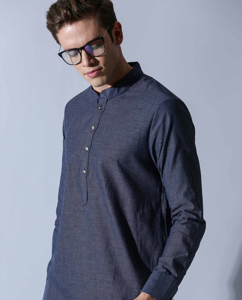 CELEB - MEN'S KURTA - NAVY KURTA RARE RABBIT