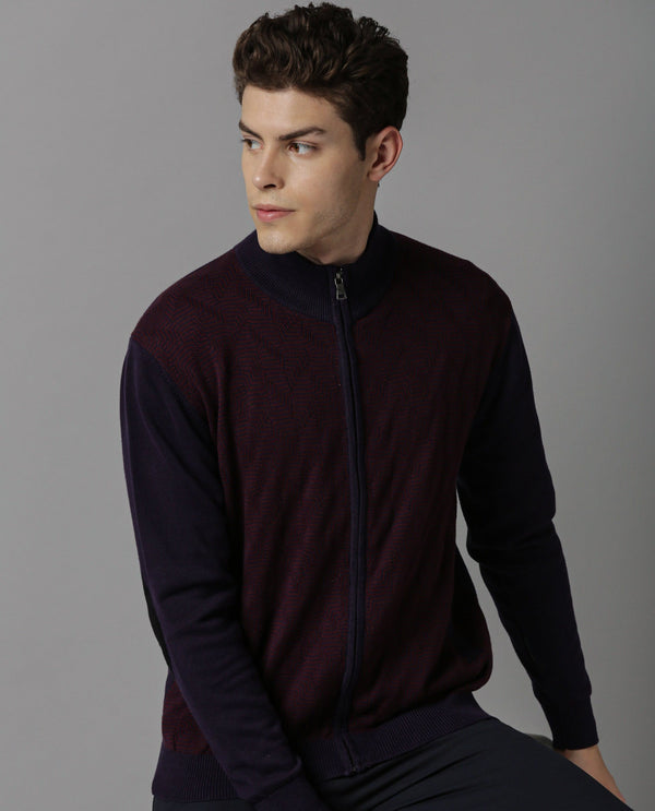 TUCK - ZIPPER JACKET - MAROON SWEATER RARE RABBIT