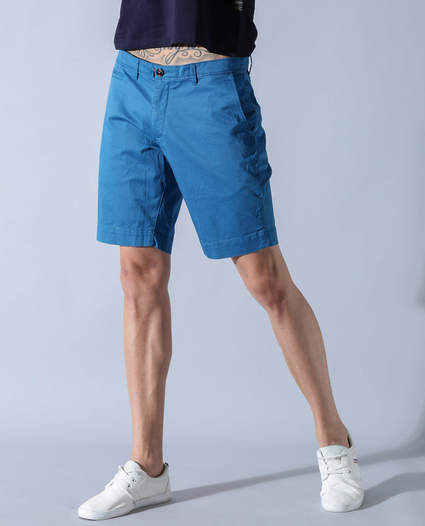 TOPAZ-1 - MEN'S SHIRT - BLUE SHORTS RARE RABBIT