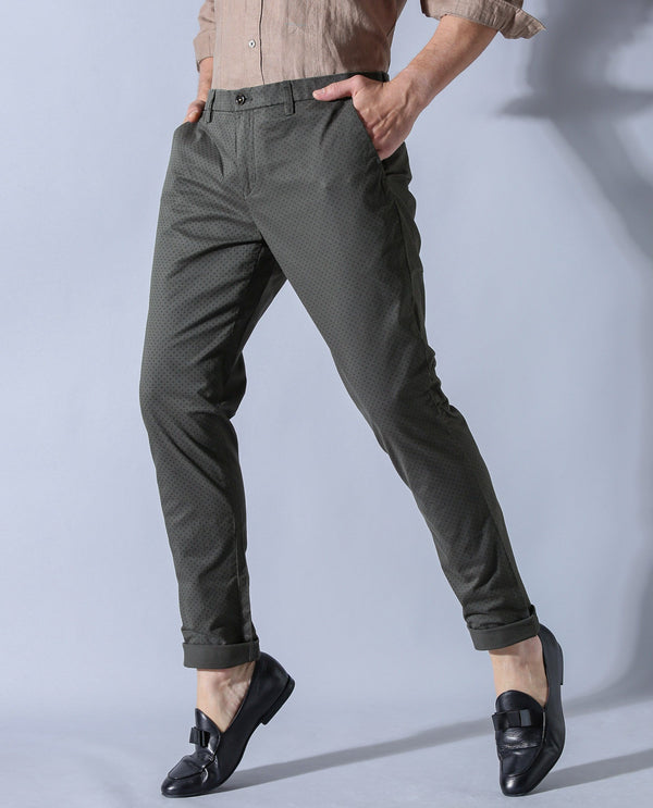 SEED-PRINTED TROUSER-GREEN TROUSERS RARE RABBIT